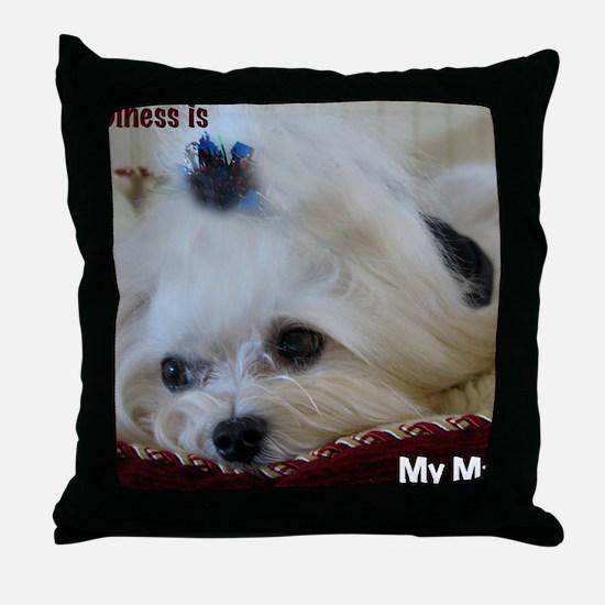 My Maltese Throw Pillow