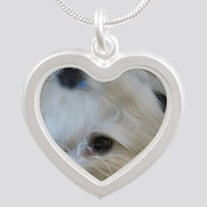 My Maltese Silver Heart Necklace