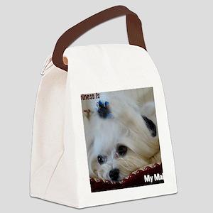 My Maltese Canvas Lunch Bag