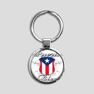 puerto rico b Round Keychain
