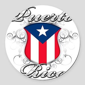 puerto rico b Round Car Magnet