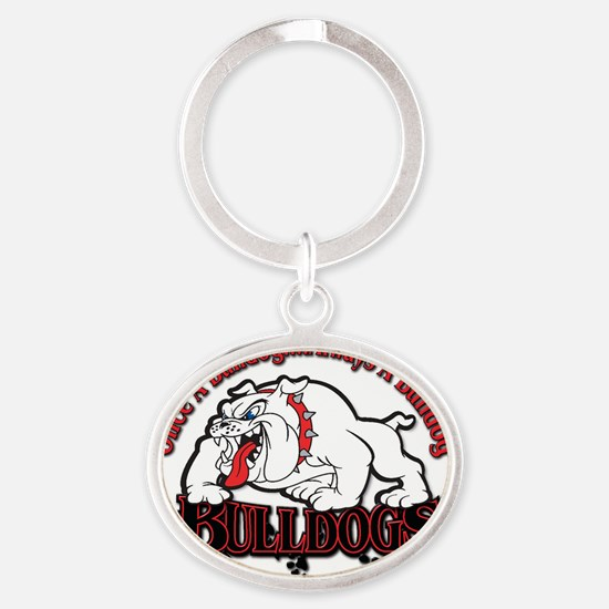 Bulldog Reunion Oval Keychain