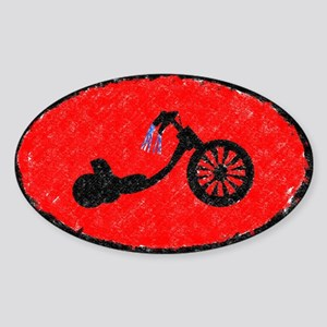 Wanna Race? Trike Oval Sticker