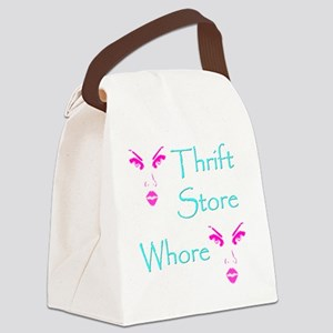 thrift store whore 10x10 Canvas Lunch Bag