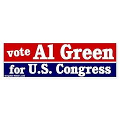 Al Green for Congress Bumper Bumper Sticker