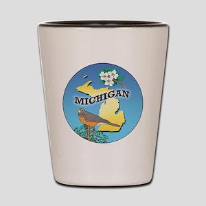 MICHIGAN 02-circle_GM Shot Glass