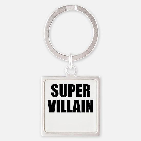 Super Villain W Square Keychain