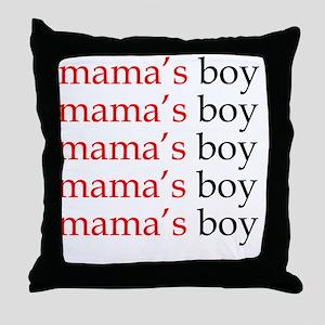 mamasboy Throw Pillow