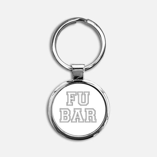 Unique Fubar Round Keychain