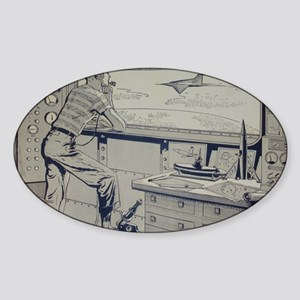Tom Swift endpapers Sticker (Oval)