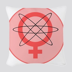 atom eve Woven Throw Pillow