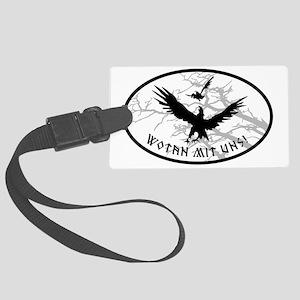 ravens no bg Large Luggage Tag