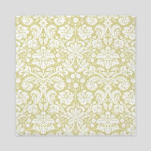 Matte gold damask pattern Queen Duvet