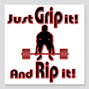 "Grip and Rip it Square Car Magnet 3"" x 3"""