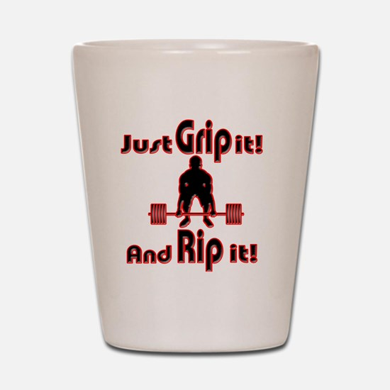 Grip and Rip it Shot Glass