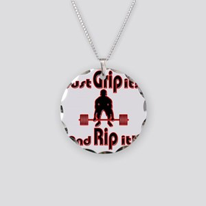 Grip and Rip it Necklace Circle Charm