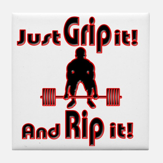 Grip and Rip it Tile Coaster