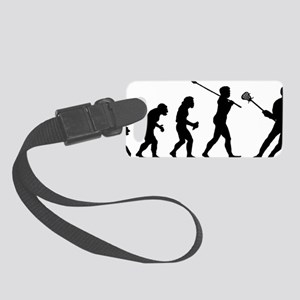 Lacrosse Player Small Luggage Tag