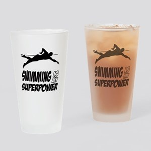 swimming is my superpower Drinking Glass