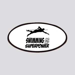 swimming is my superpower Patches