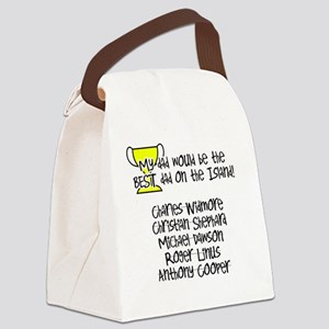 2-Best Dad Canvas Lunch Bag