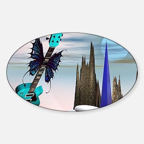 flyingguitar Sticker (Oval)