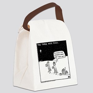 Three Wise Dogs Canvas Lunch Bag