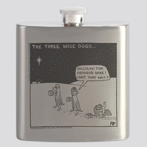Three Wise Dogs Flask