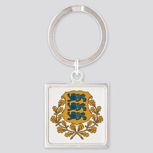 Coat of arms of Estonia Square Keychain