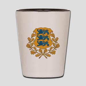 Coat of arms of Estonia Shot Glass
