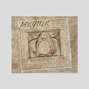leonardo-penguin-card Throw Blanket