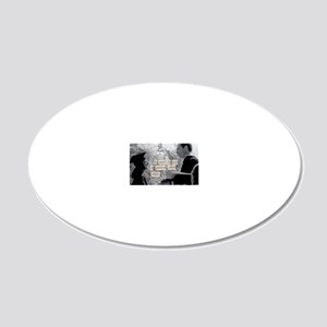 postcards 4_2 20x12 Oval Wall Decal