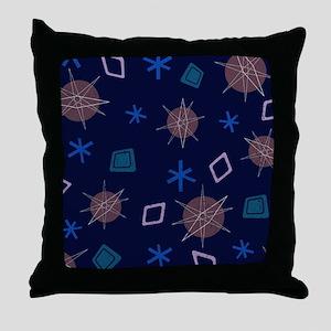 Atomic Age Art Throw Pillow