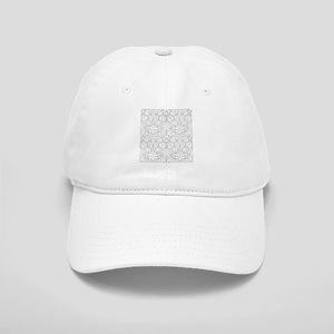 Grey damask pattern Cap