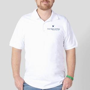down_circle_white Golf Shirt