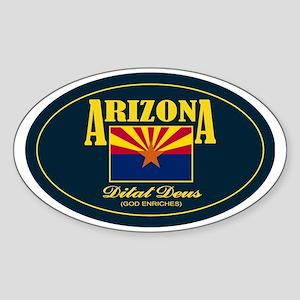 3x5 Arizona-wrap(blue)(oval) Sticker (Oval)
