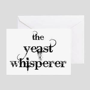 Yeast whisperer greeting cards cafepress yeast whisperer 2000 black greeting card m4hsunfo