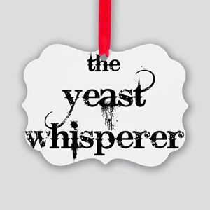 yeast whisperer 2000 black Picture Ornament