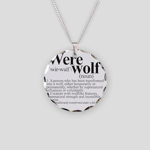 Werewolftee Necklace Circle Charm