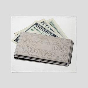 SilverMoneyHolder042810 Throw Blanket