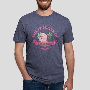 Life's Better In Santa Cruz Mens Tri-blend T-Shirt