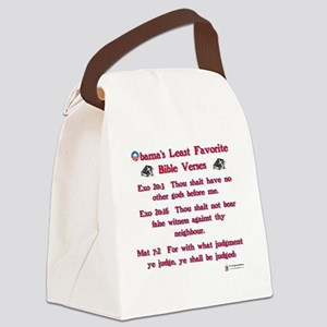 obamas least favorite bible verse Canvas Lunch Bag
