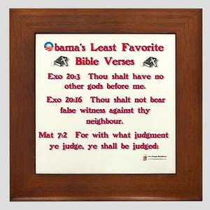obamas least favorite bible verses Framed Tile
