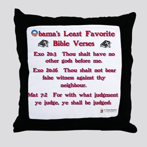 obamas least favorite bible verses Throw Pillow