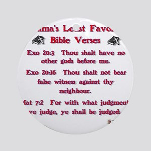 obamas least favorite bible verses Round Ornament