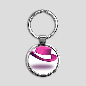 pink_legendary_dark Round Keychain