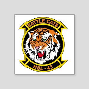 "HSL-43 Battle Cats Square Sticker 3"" x 3"""