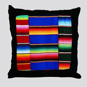 Serape stripes Throw Pillow