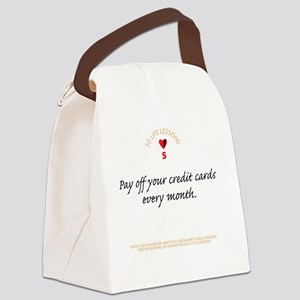 TravMugBlackScript05 Canvas Lunch Bag