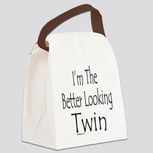 ImTheBetterLookingTwin Canvas Lunch Bag